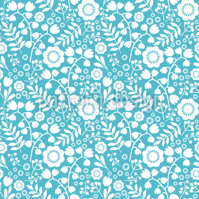 Flower Diva Repeating Pattern