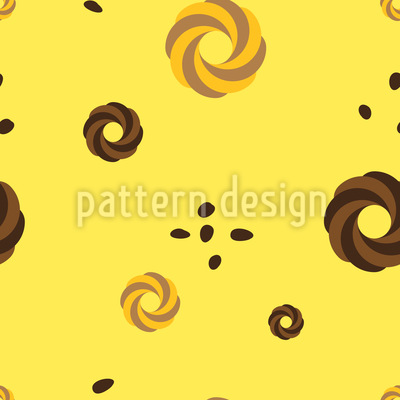 Spritz biscuits with Cocoa Beans Vector Pattern