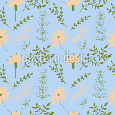 Horsetail And Daisy Vector Design