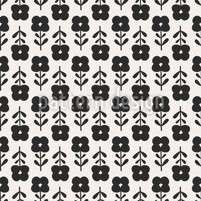 Sixties Flowers Seamless Pattern