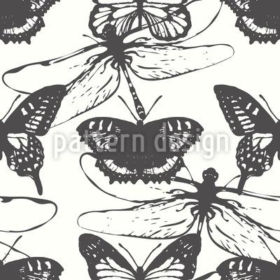 Butterflies and Dragonflies Pattern Design