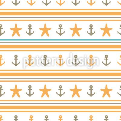 Glücklicher Seemann Vektor Muster
