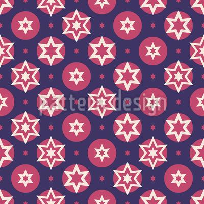 Sterne und Punkte Vektor Ornament