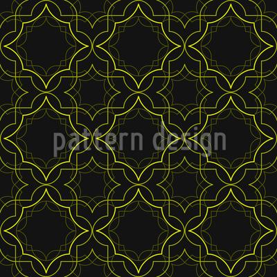 Goldenes Art Deco Muster Design