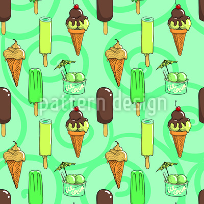 Lemon And Chocolate Ice Creams Pattern Design