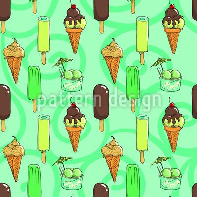 Zitronen und Schokoladeneis Muster Design
