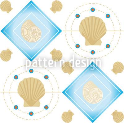 Mitilo Bianco Seamless Pattern