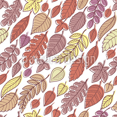 Falling Autumn Leaves Vector Pattern
