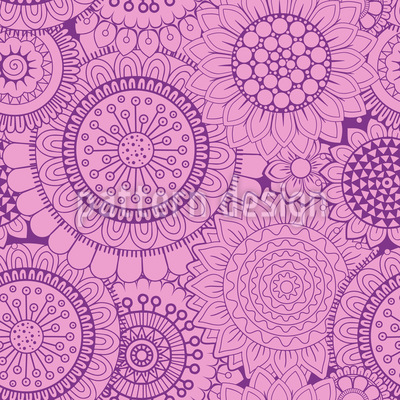 Abstract Flowers Repeating Pattern