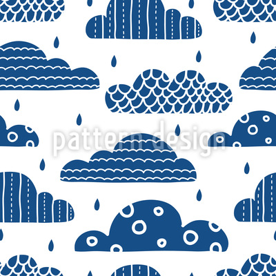 Embellished Clouds Repeat Pattern