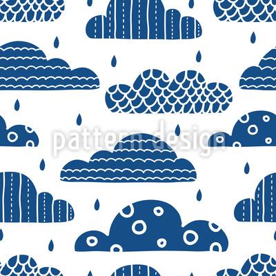Verzierte Wolken Rapportmuster