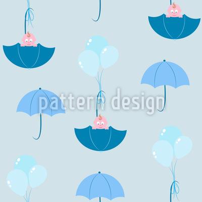 Kinder und Regenschirme Designmuster