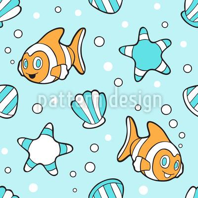 Aquarium Abenteuer Vektor Ornament