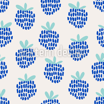 Hand Drawn Blackberries Seamless Vector Pattern