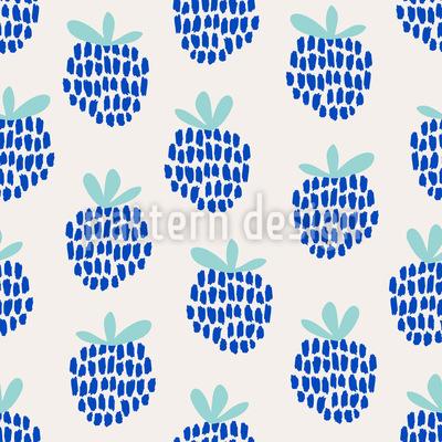Handgezeichnete Brombeeren Nahtloses Vektor Muster