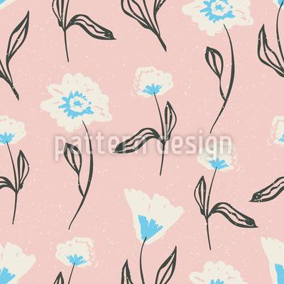 Handgezeichneten Blüten Musterdesign