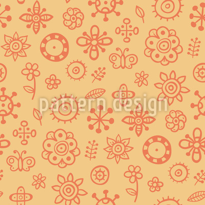 Sommer Scrapbook Nahtloses Vektor Muster