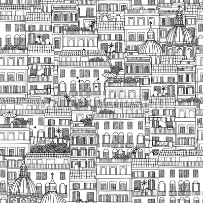 Italian Houses Repeat Pattern