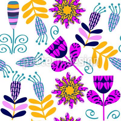 Niedliche helle Blumen Muster Design
