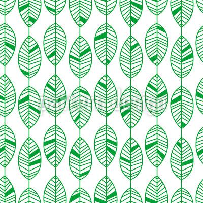 Streifen mit Blättern Nahtloses Vektor Muster