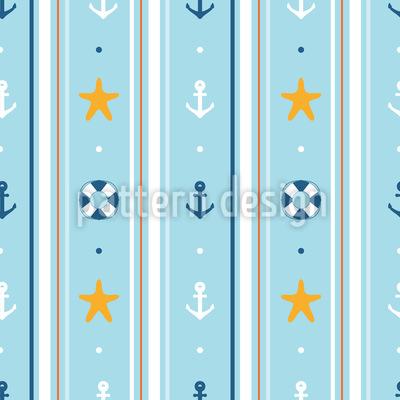 Seefahrer Tapete Vektor Ornament