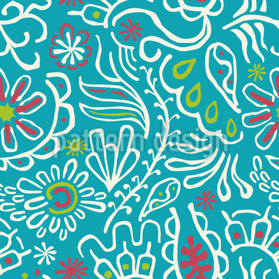 Tropic Flowers Vector Design
