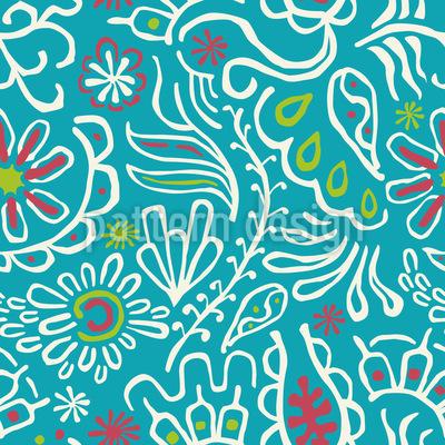 Tropische Blumen Vektor Design