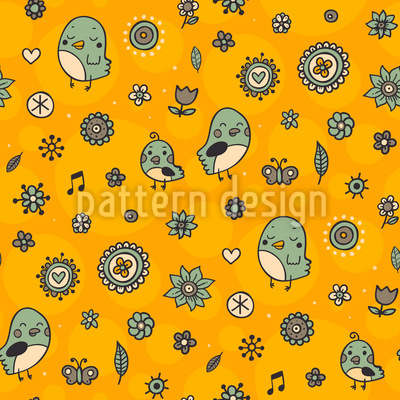 Relaxed Birds Repeat Pattern