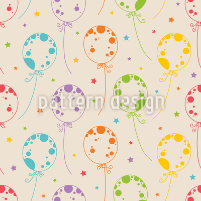Cheerful Ballons Seamless Pattern