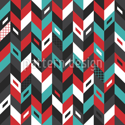 Abstract Skyscrapers Seamless Vector Pattern