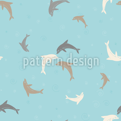 Playing Dolphins Vector Design