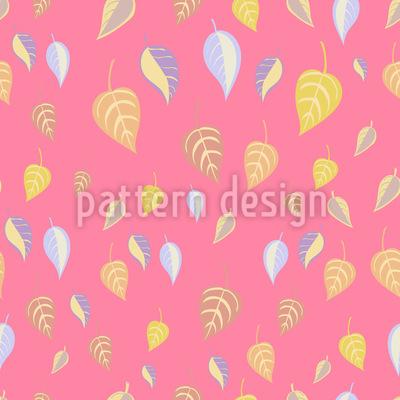 Mädchenhafte Blätter Rapportiertes Design