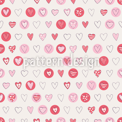 Hearts for Lovers Repeat Pattern