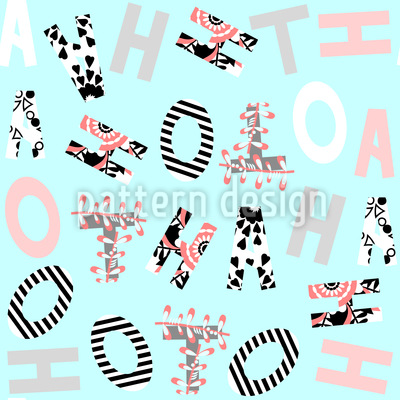 Patchwork Letters Vector Ornament