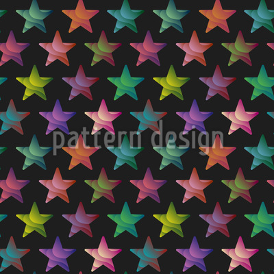 Trendy Stars Seamless Vector Pattern