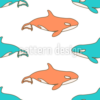 Killer Whales Repeating Pattern