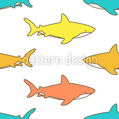 Cute Sharks Repeat Pattern