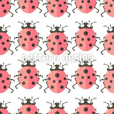 Netter Marienkäfer Muster Design