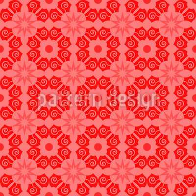 Flowergrowing Region Seamless Vector Pattern