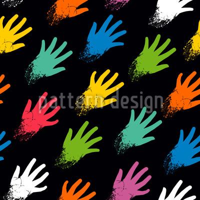 In Farbe Getauchte Hände Vektor Muster
