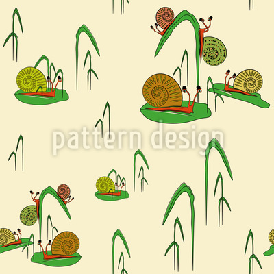 Snail Fun Park Pattern Design