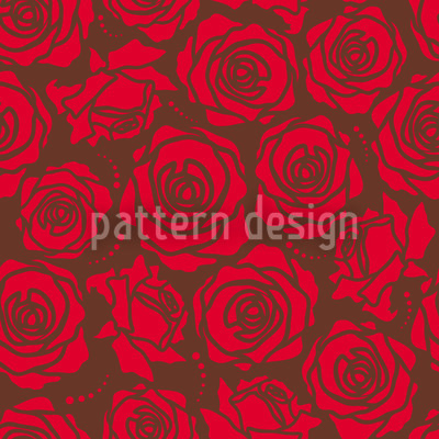 Rose Blossoms Red Pattern Design