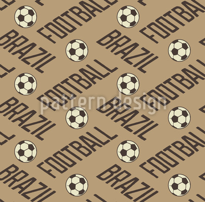 Football In Brazil Vector Ornament