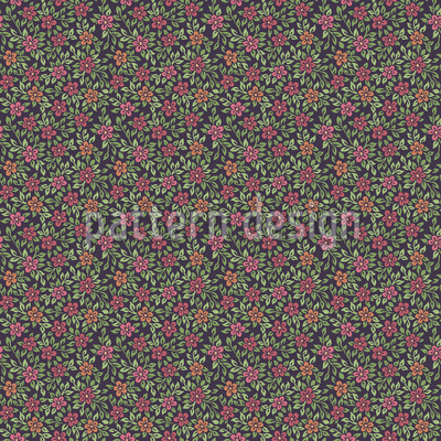 Twilight in the old Garden Seamless Vector Pattern