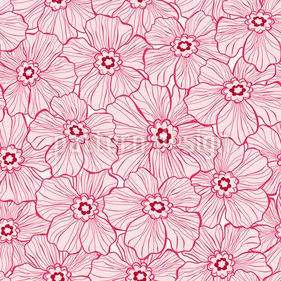 Blumen Silhouette Designmuster