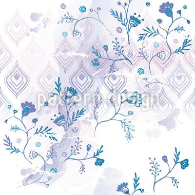 Blaue Oase Vektor Ornament