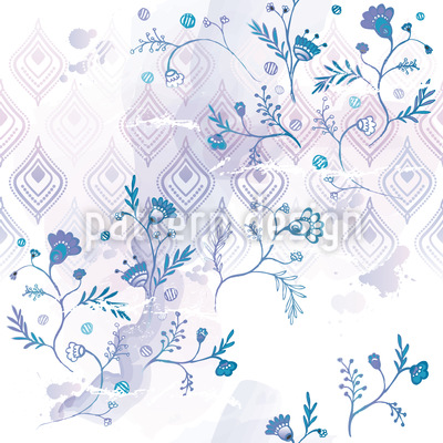 Blue Oasis Vector Ornament