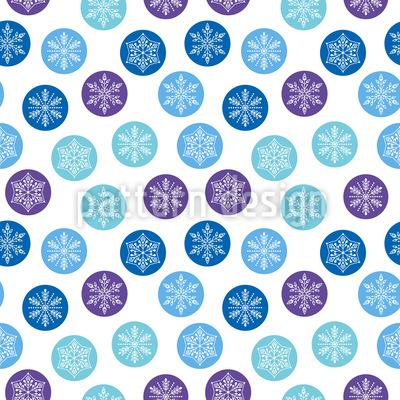 Abgerundete Schneeflocken Vektor Ornament