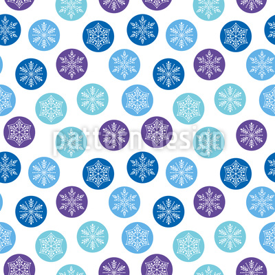 Rounded Snowflakes Vector Ornament