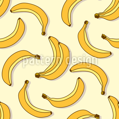 Baby Bananen Nahtloses Vektor Muster